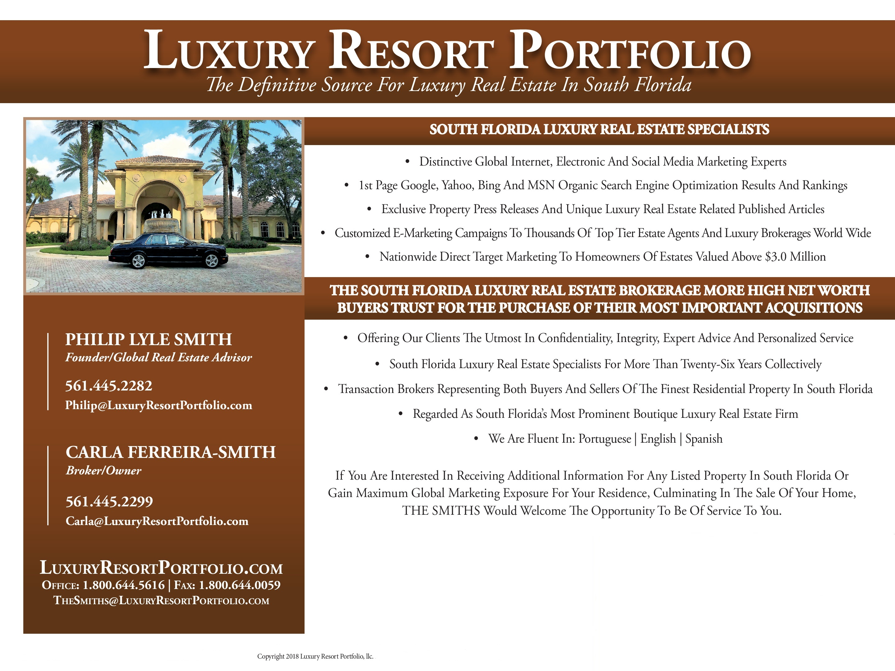 South Florida Luxury Real Estate Specialists Luxury Resort Portfolio_South  Florida Luxury Real Estate